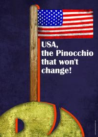 USA, the Pinocchio that won't change!